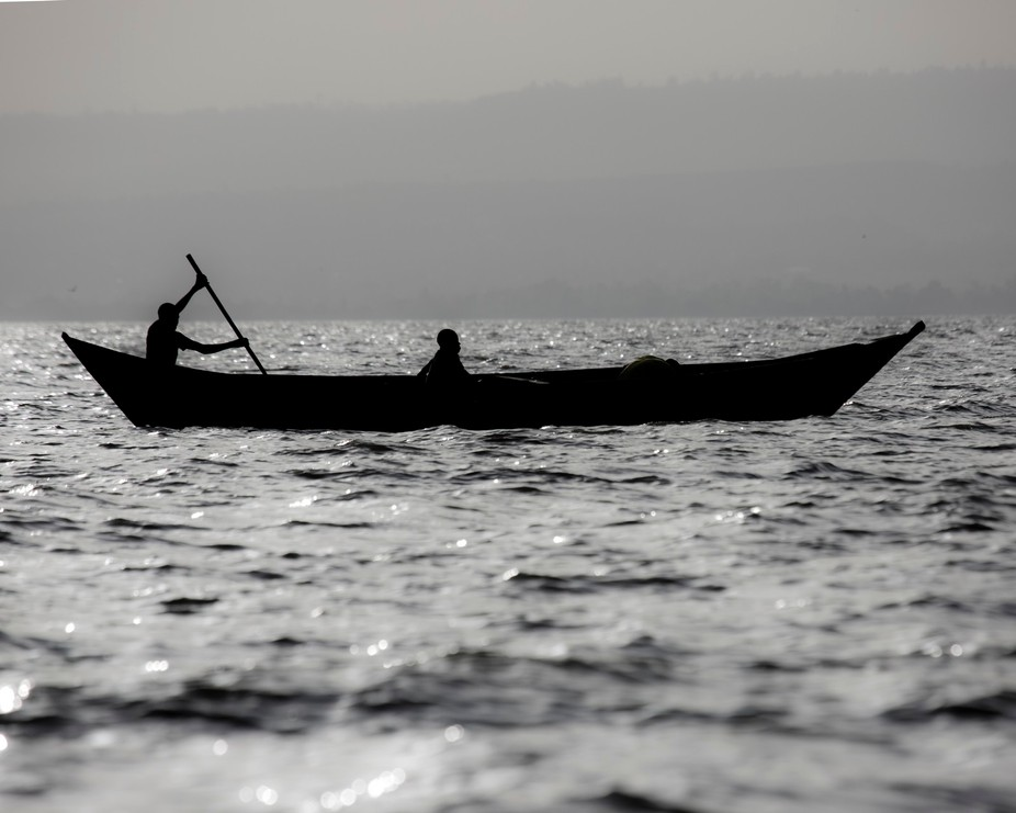 On Lake Victoria near Kisumu, Kenya.