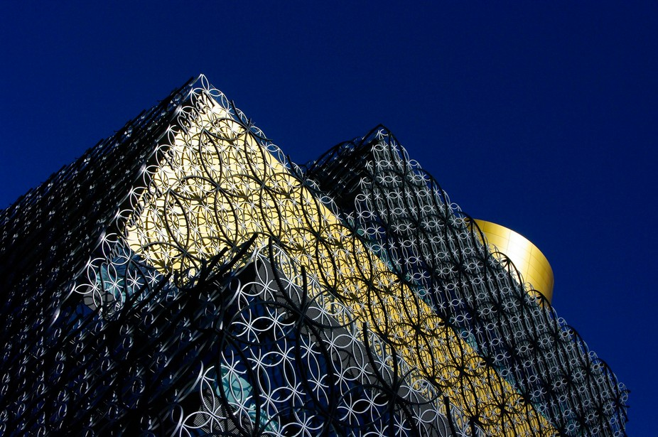 Shot of exterior of new city of Birmingham Central library