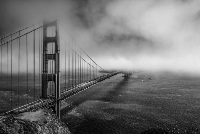 Lost in the Fog B&W by markcote - A World In Black And White Photo Contest