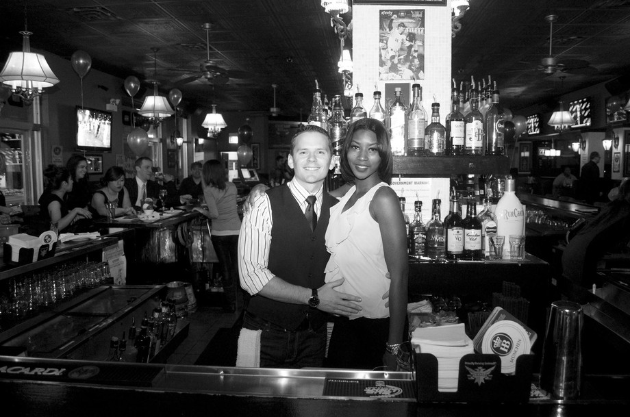 I was hired to take photos of a non profit mixer at this popular bar in Chicago. The 2 bartenders...