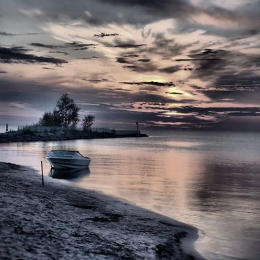 Lac Saint-Jean QC at dusk