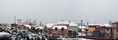 Unusual snow