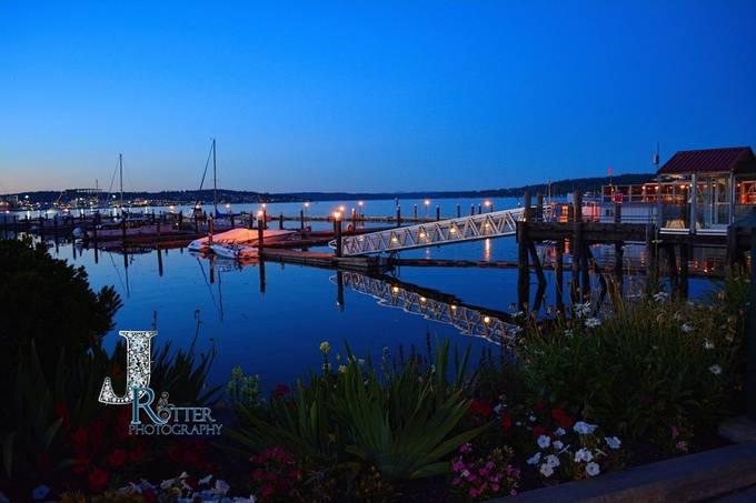Port Orchard Marina At Sunset