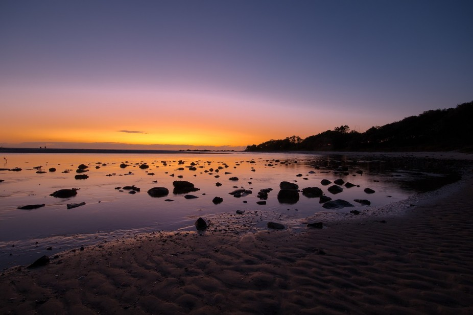 This was taken at Hasting Point in NSW Australia. It was just before the sun came up and taken wi...