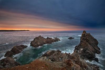 Jagged Rocks at Sunset