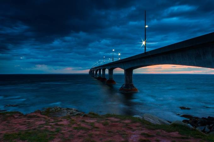 Confederation Bridge by astewart - The Blue Hour Photo Contest