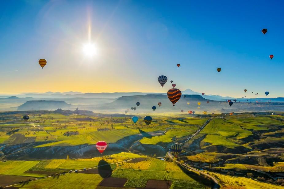 Air baloons over Cappadocia