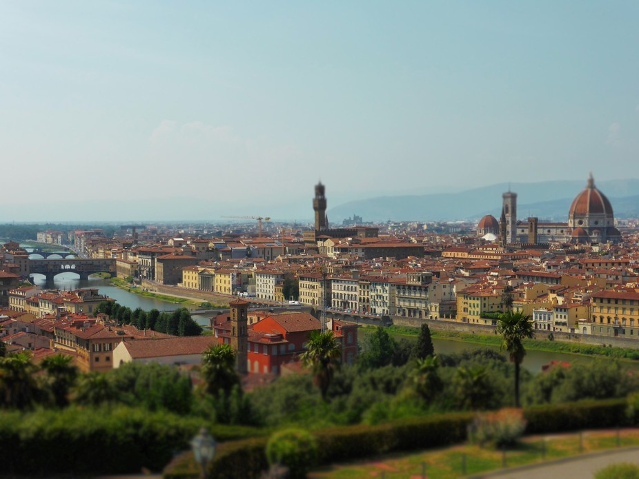A view to Florence, taken from the Michelangello Square