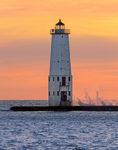 Lighthouse at Frankfort Michigan
