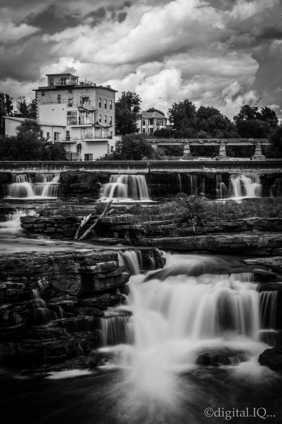 Almonte Rapids wm (2 of 2) by Quigley - The Water In Black And White Photo Contest
