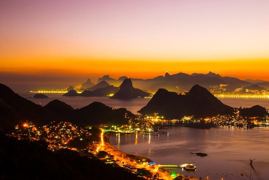 Rio de Janeiro view from top of Niterói city.