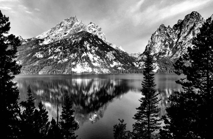 Jenny Lake by SaraStoeckel - Depth In Black And White Photo Contest