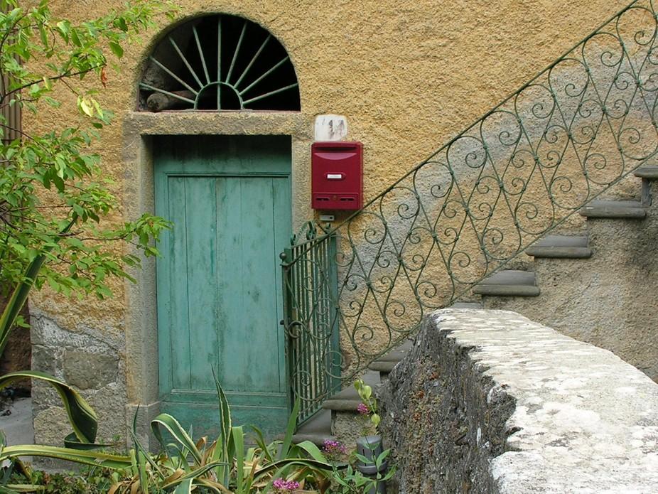 Doorway in Riomaggiore, Italy.