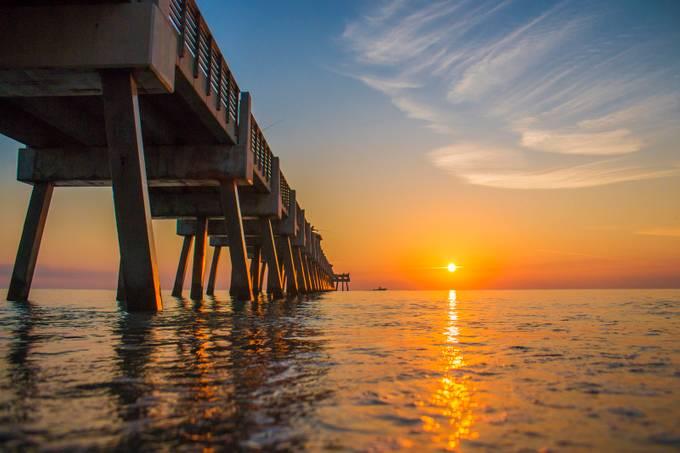 Juno Beach Pier by jpfotos - Light On Water Photo Contest