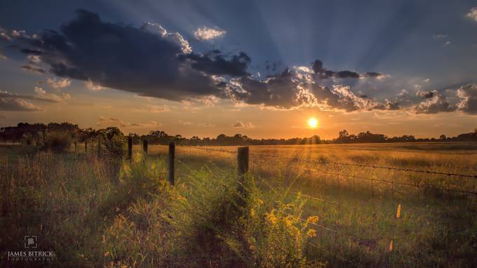 Rural Country Sunset by JamesBitrick - Rails and Fences Photo Contest