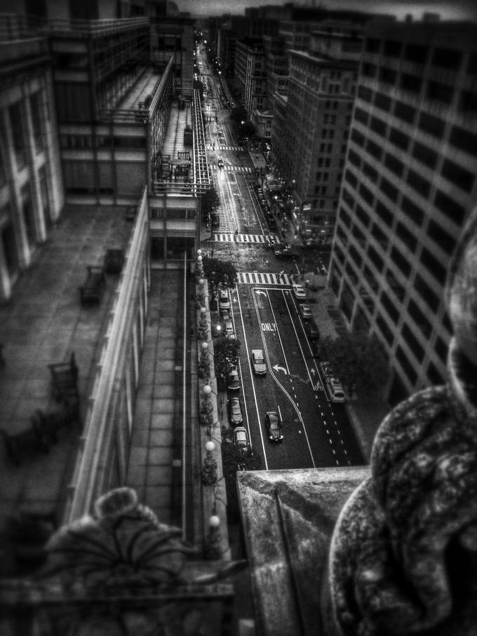 Looking Down by reburndesign - Depth In Black And White Photo Contest