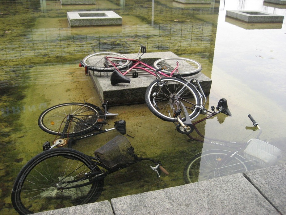 bikes in the water
