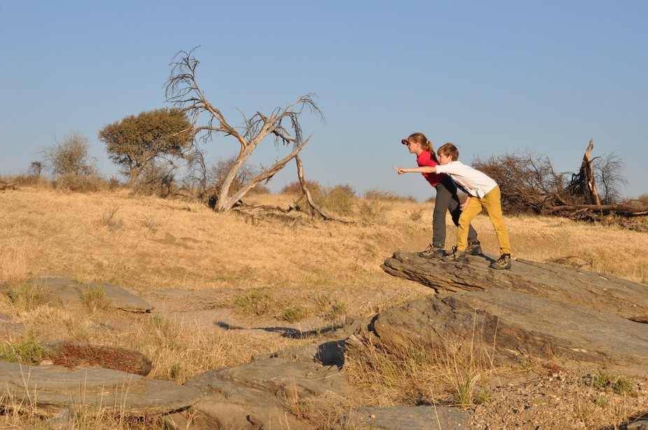 My kids in Namibia!