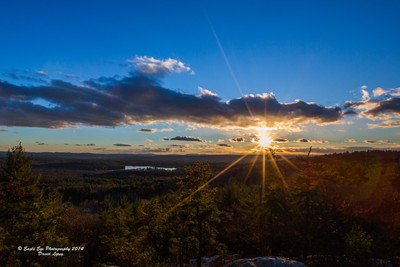 Sunset from the Oak Hill Rock Outcropping - Concord, NH 11-14-14