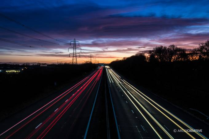 Motorway Light trails by arcocreative - Parallel Compositions Photo Contest