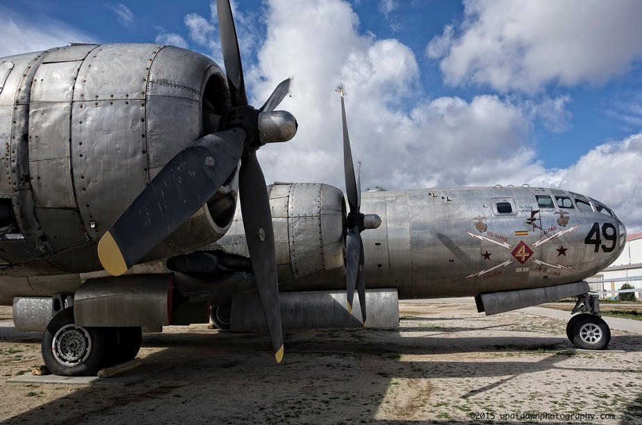 This is Three Feather III, a B-29 that actually saw action in WWII.  It\'s currently on display at...