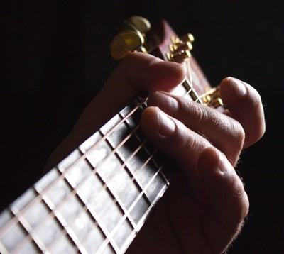 Guitar In The Sun Light