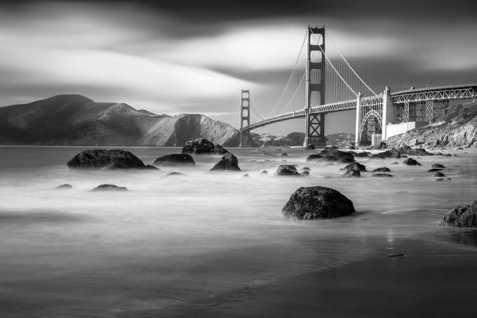 Golden Gate Bridge, B&W by HaliSowle - Spectacular Bridges Photo Contest