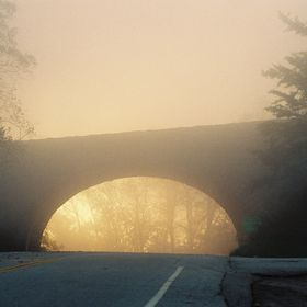 On the way through Virginia in 2004, I saw this in my rearview mirror after passing under the Blue Ridge Parkway. I slammed on the brakes, turned...