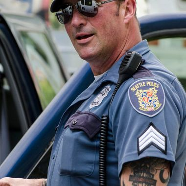 Former military, now Seattle Police Sgt., this man is one hell of a guy.