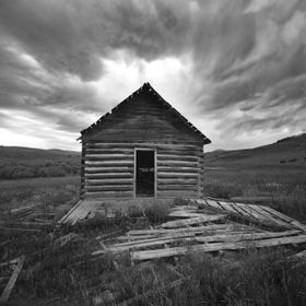 This is an old homestead school house outside of Bozeman, Montana on a piece of Ted Turner's property. He keeps Spanish Creek Road open to t...