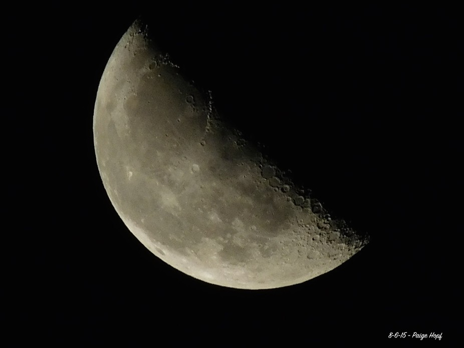Photos of the Moon taken by 15 year old Paige Hopf (my daughter!)...