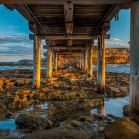 Taken during the sunset under the La Perouse/ Bare Island bridge, Sydney Australia. 5 Exposure HDR
