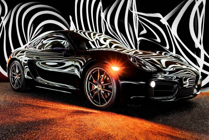 Porsche Cayman Light Painting by clintfleming - Awesome Cars Photo Contest