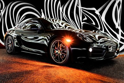 Porsche Cayman Light Painting