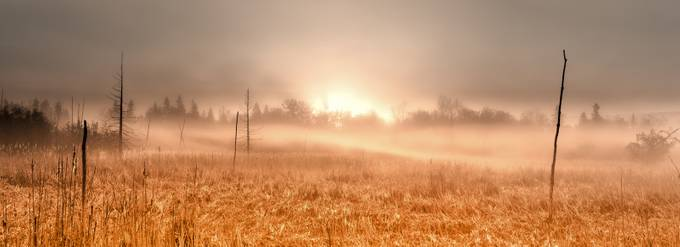 Rolling fog sunrise by bminor - Dry Fields Photo Contest