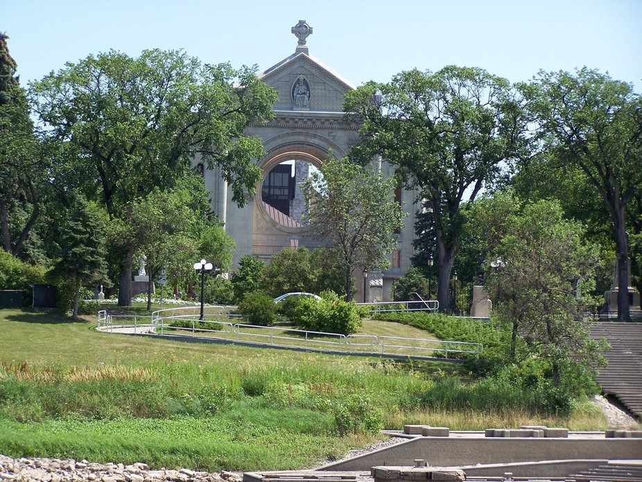 The Original St. Boniface Cathedral - all that remains after fire destroyed the building