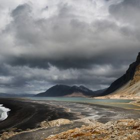 This is one of a series of photographs taken near Hvaines in East Iceland.  The series demonstrates the superb light and dramatic landscapes that...
