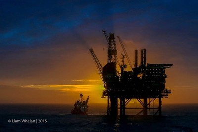 Sunrise in the North Sea