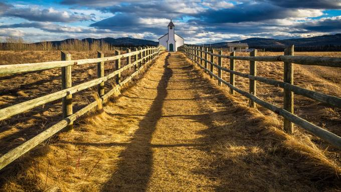 Canadian Church by byrnephotography - Fences Photo Contest