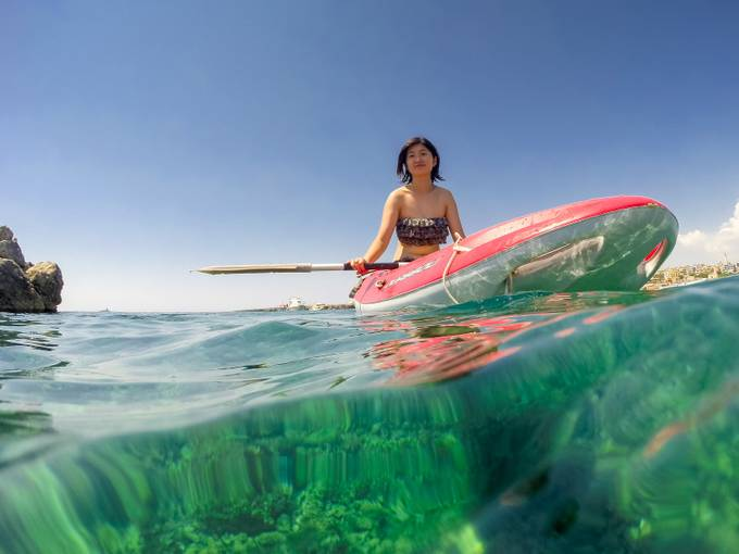 Kayaking in the Sea by kylekephart - Below My Knees Photo Contest