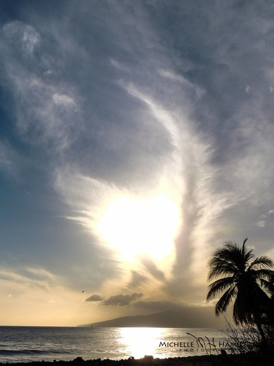 Clouds over Lana`i