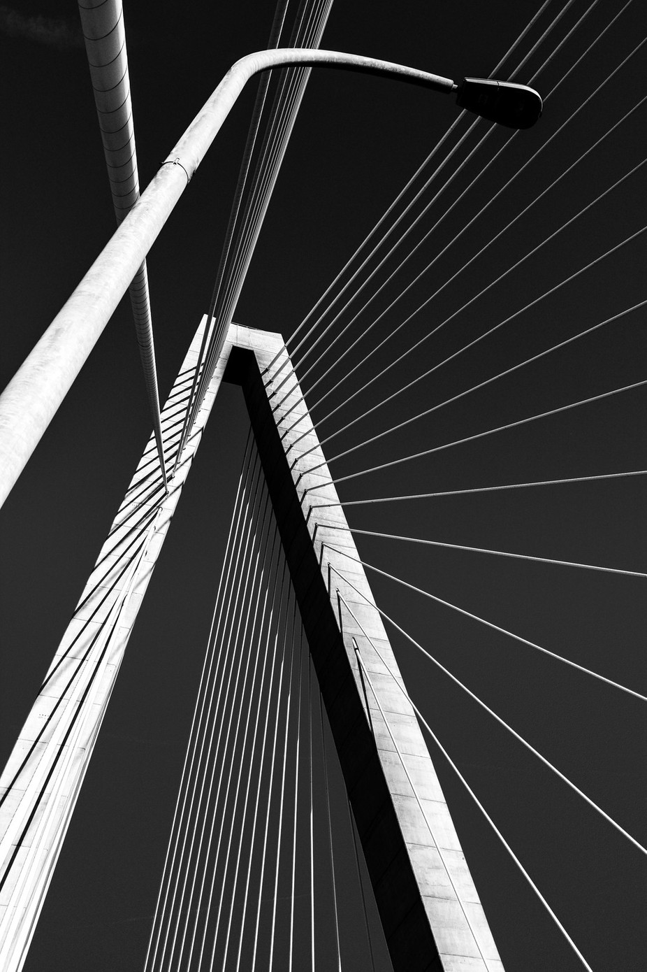 Abstract in Black and White.. The Arthur Ravenel Bridge  by Photogirl118 - Diagonals And Composition Photo Contest