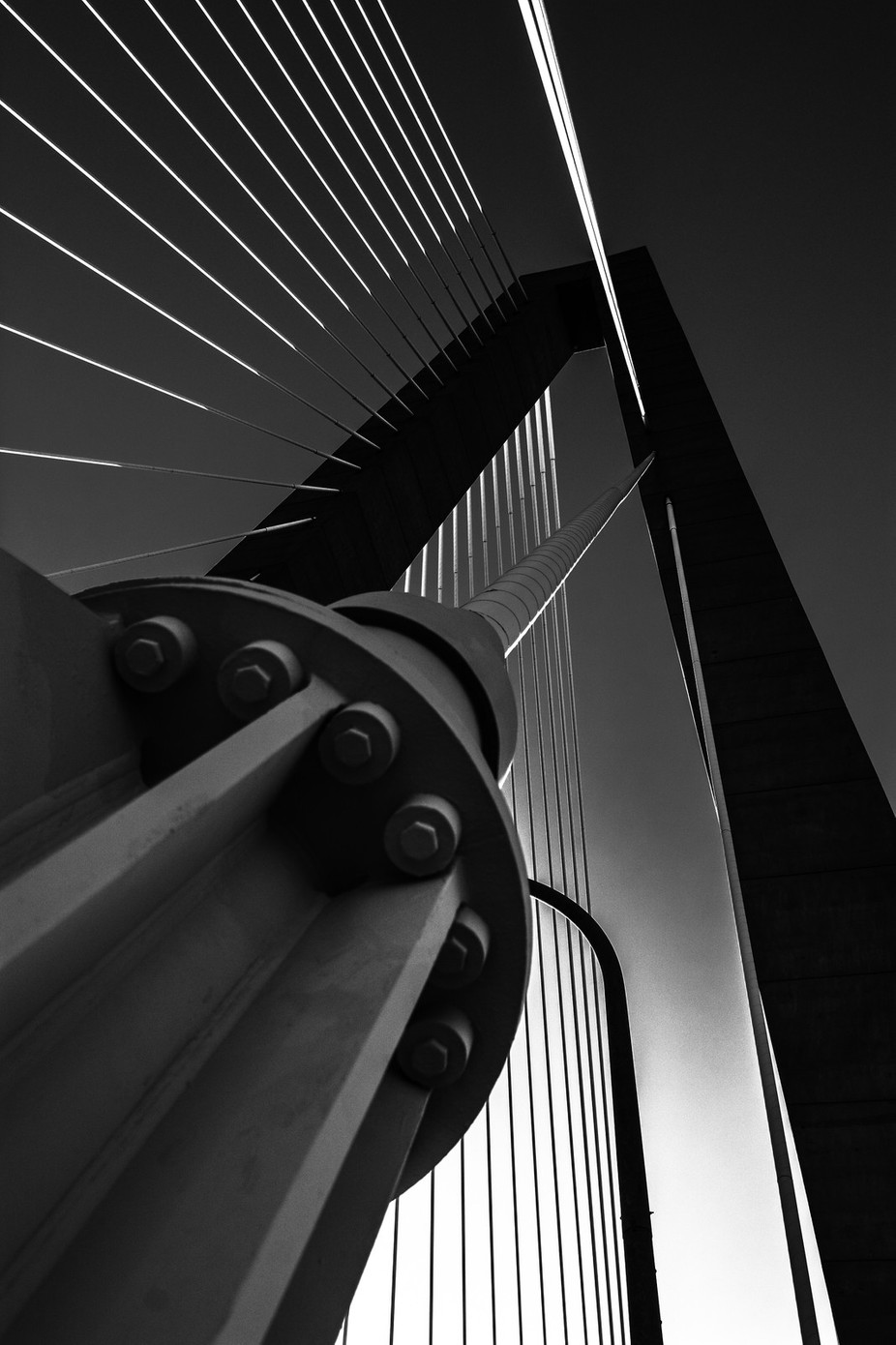 Arthur Ravenel Bridge Series in Black and White by Photogirl118 - Spectacular Bridges Photo Contest