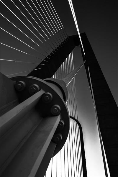 Arthur Ravenel Bridge Series in Black and White