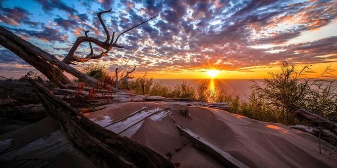 Sunset Over Sleeping Bear  by JohnWaldronImages - Creative Travels Photo Contest