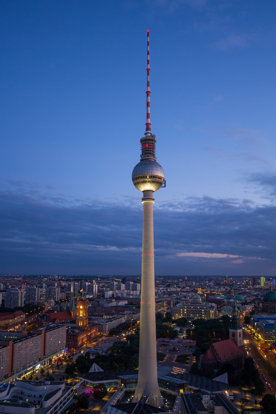 TV Mast, Berlin by jaybirmingham - City In The Night Photo Contest