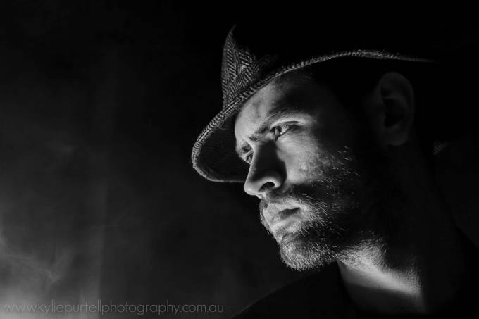 Film Noir Inspired Low Key Portrait by kyliepurtell - Dark Portraits Photo Contest