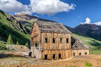 Abandoned Mining Building in Animas Forks, Colorado