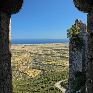 This photo was taken from Kantara Castle, Cyprus in 2013.