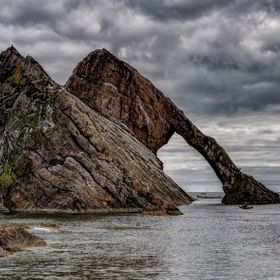 while at Bow Fiddle Rock on Wednesday the 12th of August 2015, we were fortunate enough to see several fishing boats, a helicopter, and this kaya...